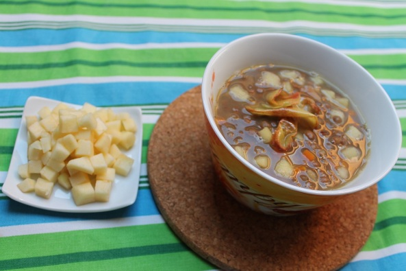 zuppa di lenticchie e mele